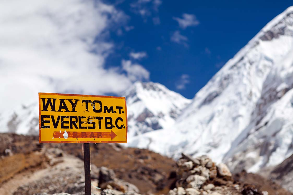 Way to M.T. Everest B.C.